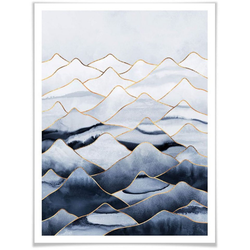 Wall-Art Poster Die Berge, Berge (1 Stück) 100 cm x 120 cm x 0,1 cm