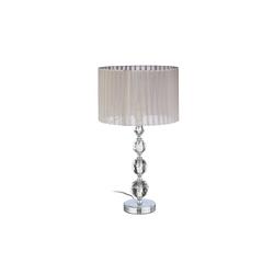 relaxdays Nachttischlampe Nachttischlampe Kristall