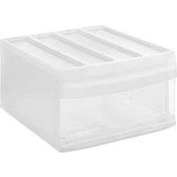 Rotho SYSTEMIX Schubladenbox, 1 Schubfach, Aufbewahrungsbox aus PP-Kunststoff , Maße: 395 x 340 x 203 mm, transparent