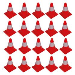 20 x Leitkegel Warnkegel Pylon Hütchen Absperrhut 300mm Höhe rot / weiß