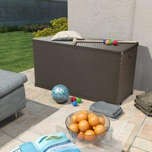UBaymax Gartenbox Aufbewahrungsbox aus Polypropylen 420 L, Gartentruhe Kissenbox Auflagenbox mit abschließbarem Deckel, 120 x 56 x 63 cm