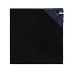 Knit Factory Geschirrtuch Geschirrtuch Block Schwarz/Jeans, (Mode)