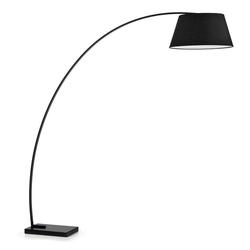 Bogen Stehlampe in Schwarz 50 cm breit