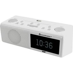 Soundmaster UR8350WE Radiowecker DAB+, UKW AUX, USB Weiß