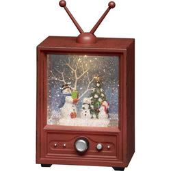 Konstsmide 4373-000 Fernseher mit 3 Schneemännern Warmweiß LED Bunt wählbare Energieversorgung, b