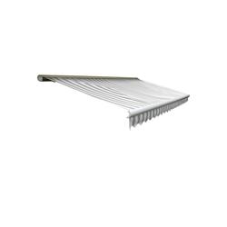 MCW Kassettenmarkise H123-4,5x3-V Elektrische Kassetten-Markise, Winkel von 0° bis 35° stufenlos einstellbar grau