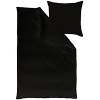 Curt Bauer Uni Mako-Satin schwarz (135x200+40x80cm)
