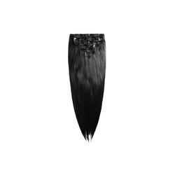 MyBeautyworld24 Haarclip Clip In Extensions Haarverlängerung Set – 7 Haarteile glatt Extensions Haarverlängerung 60 cm schwarz