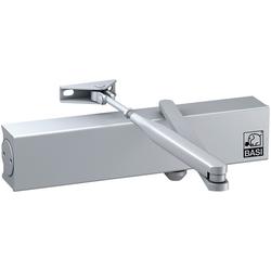 BASI Türschließer Endanschlag und Schließgeschwindigkeit einstellbar, silber, Türschließer TS 200 silberfarben
