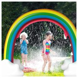 Zehnhase Wasserspielzeug Spiel-Wassersprenkler, aufblasbarer Regenbogen-Design