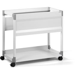 DURABLE 90 A4 System File Trolley Hängemappenwagen, Mappenwagen für ca. 90 Hängemappen oder ca. 8 breite Ordner, Farbe: grau