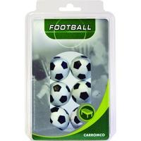 CARROMCO Kickerbälle 6er Pack schwarz/weiß (62406)