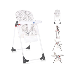 Lorelli Hochstuhl Kinderhochstuhl Dulce, Sitzhöhe verstellbar, faltbar, 5-Punkt-Gurt, Korb weiß 52 cm x 106 cm x 85 cm