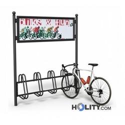 Fahrradständer mit Werbetafel h14060