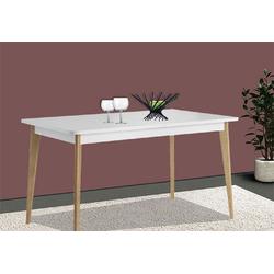 Feldmann-Wohnen Esstisch NORDI (Tisch), B/T/H: 140 - 180 cm x 75 cm x 80 cm weiß