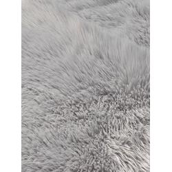 Teppich Synthetik Lammfell grau ca. 160/220 cm