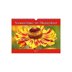 Sonnenbraut im Blumenbeet (Wandkalender 2021 DIN A4 quer)