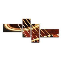 Bilderdepot24 Leinwandbild, Leinwandbild - Gitarre 140 cm x 65 cm