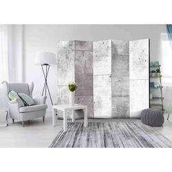 Spanische Wand in Betonplatten Optik fünf Elementen