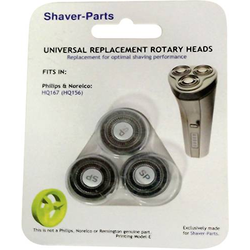 Shaver-Parts für Philips HQ 167, HQ 156 Scherkopf Schwarz 1 Set