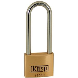 KASP Vorhängeschloss, Messing Premium, 50x80 mm, hoher Bügel, gleichschließend - Serie 125 K12550L80A5 gleichschließend