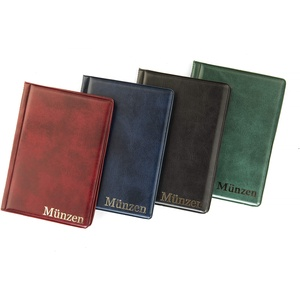 MC.Sammler Münzenalbum Münzalbum Taschenalbum für 96 Stück 2 Euro Münzen (Rot)