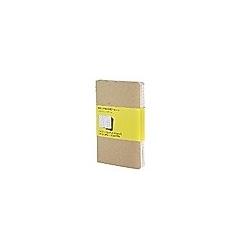Moleskine Cahier A6  kariert  Kraft/Natur  3er-Set. Moleskine  - Buch