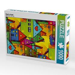 Stadt in Stadt Lege-Größe 48 x 64 cm Foto-Puzzle Bild von Nico Bielow Puzzle