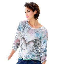Alba Moda Shirt mit Schmetterlingmotiv rosa 3