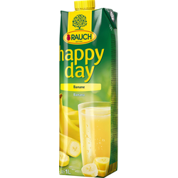 Rauch Happy Day Banane HAPPY DAY Bananennektar Farbe gelb 1000ml