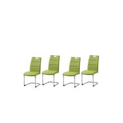 HTI-Line Esszimmerstuhl Schwingstuhl 4er Set PU grün DannyC