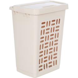 Wäschebox 60 l, Abmessungen: 44 x 35 x 61 cm, Farbe: creme
