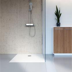 HSK plan Marmor-Polymer Duschwannen-Set 120 × 120 × 3,5 cm