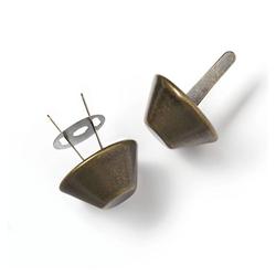 PRYM Bodennägel für Taschen 20mm, altmessing, 100% Metall, Zubehör, Taschenzubehör
