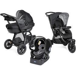 Chicco Kombi-Kinderwagen Trio-System Activ3 Top, Jet Black, 15 kg, mit Regenschutz; Kinderwagen schwarz Kinder Kombikinderwagen Buggies