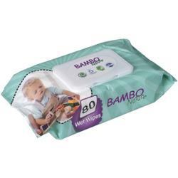 Bambo® Nature Feuchtpflegetücher, Umweltfreundliche & dermatologisch getestete Baby-Feuchttücher, 1 Packung = 80 Tücher