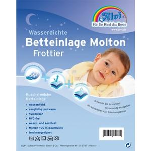 Alvi 93755 Betteinlage Baby-Wohl-Molton Frottee 70x140cm