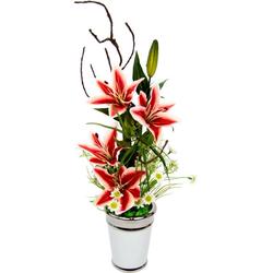 Kunstpflanze Lilien, Höhe 55 cm