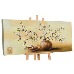 YS-Art Gemälde Topf mit Blumen I 118