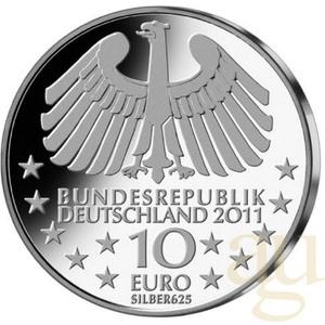 10 Euro Silber Gedenkmünzen ab 2011 mit 10 Gramm Feinsilber