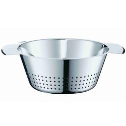 RÖSLE Seiher, Edelstahl 18/10, (1-St), konisch, zum Abseihen von Teigwaren und Gemüse und zum Waschen von Salaten, spülmaschinengeeignet 3,4 l - Ø 24 cm x 10,5 cm