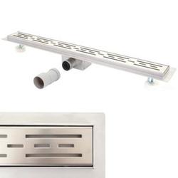 Duschrinne MCW-D94a, Bodenablauf Abflussrinne Duschablauf, Edelstahl Siphon 50-120cm ~ 60cm