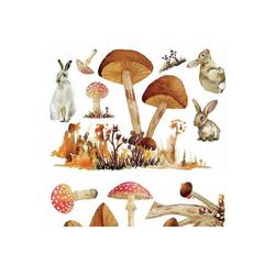 RoomMates Wandsticker Mushroom and Bunnys XXL, 13-tlg.