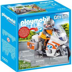 PLAYMOBIL® 70051 Notartzt-Motorad mit Blinklicht