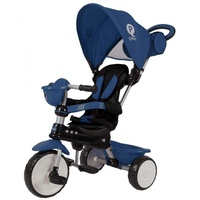 QPlay Dreirad Komfort 4 in 1 - Jungen und Mädchen blau