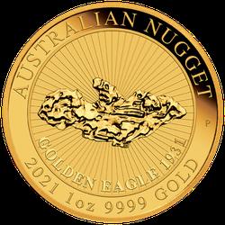 1 Unze Gold Australian Nugget Golden Eagle 2021