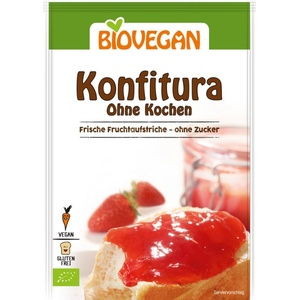 Biovegan Konfitura ohne Kochen bio