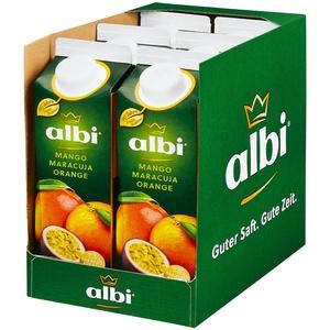 albi Mango-Maracuja-Orange 1 Liter, 6er Pack