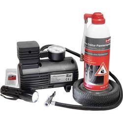 HP Autozubehör 10257 Reifenpannenset Reifen-Pannen Set Reifendruck-Messfunktion, LED-Leuchte Pkw (L