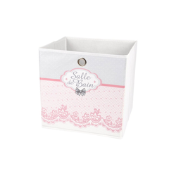 dynamic24 Aufbewahrungsbox, Motiv Textil Faltbox 31cm Charme Aufbewahrung Box Faltkiste Textil-Box